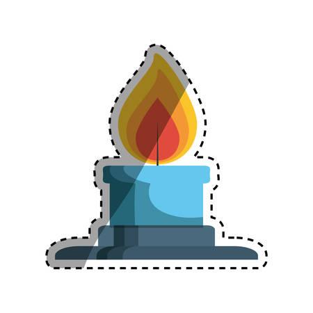 flamme: Bunsen burner flame icon vector illustration graphic design