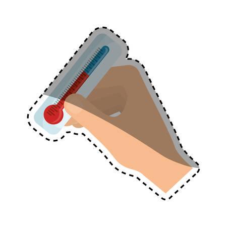 fiambres: escala de temperatura del termómetro de la ilustración del vector del icono del diseño gráfico