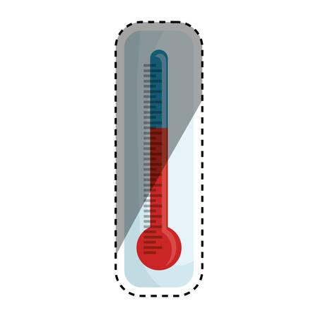 cold cuts: Thermometer temperature scale icon vector illustration graphic design