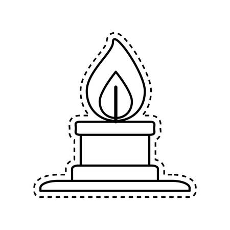 Bunsen burner flame icon vector illustration graphic design