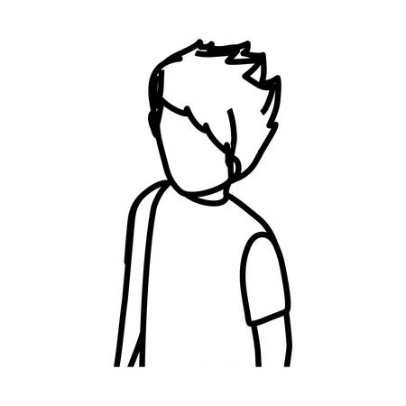 man profile: Young Man profile icon vector illustration graphic design Illustration