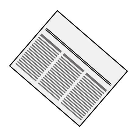 article icon: Newspaper info article icon vector illustration graphic design
