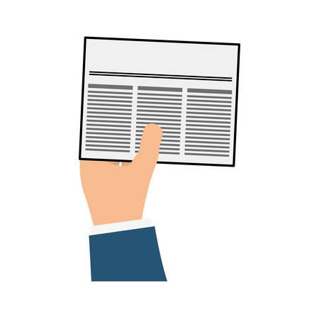article: Newspaper info article icon vector illustration graphic design