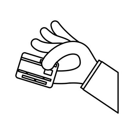 Money credit card icon vector illustration graphic design Illustration