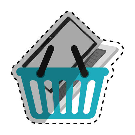 Buy online shopping icon vector illustration graphic design Illustration