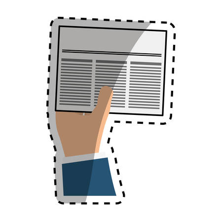 news reader: Newspaper info article icon vector illustration graphic design