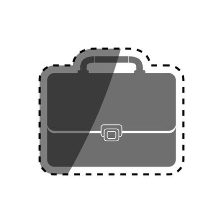 valuables: Isolated Business briefcase icon vector illustration graphic design Illustration