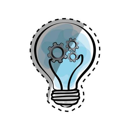 thinking machines: Bulb light draw icon vector illustration graphic design Illustration