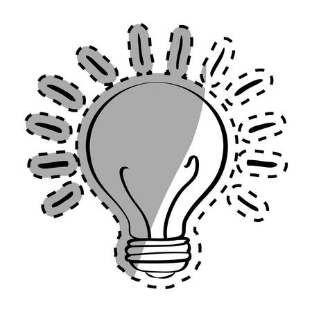 Bulb light draw icon vector illustration graphic design Illustration