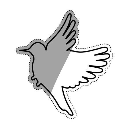 Netter Vogel Silhouette Symbol Vektor-Illustration Grafik-Design
