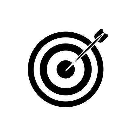 dartboard: Isolated target dartboard icon vector illustration graphic design