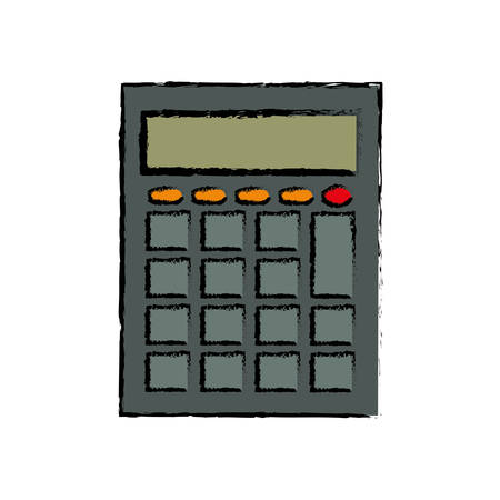 math icon: calculator math device icon vector illustration graphic Illustration