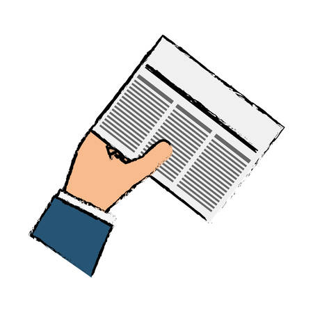 Newspaper info article icon vector illustration graphic