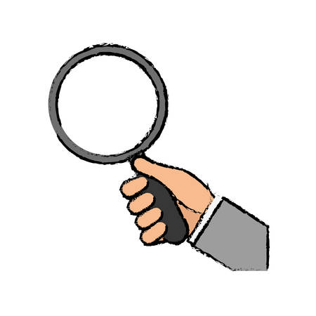 isolated magnifying glass icon vector illustration graphic