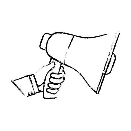 Bullhorn announce device icon vector illustration graphic Illustration