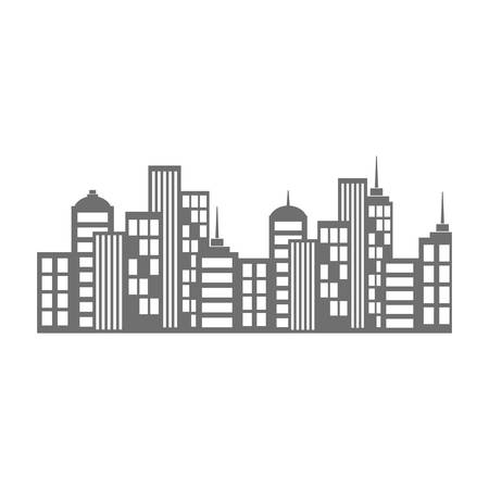 city view: City urban view icon vector illustration graphic
