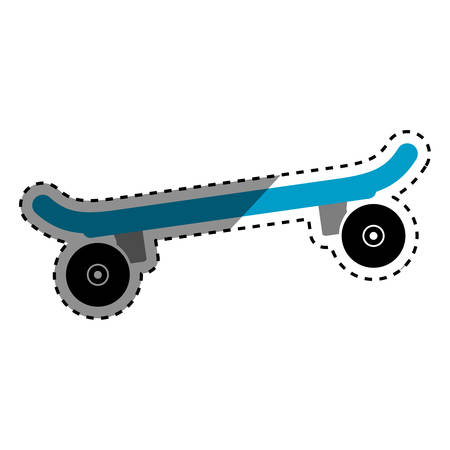 Skateboard extreme sport icon vector illustration graphic