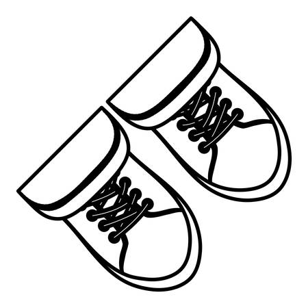 footwear: Classic sneakers footwear icon vector illustration graphic