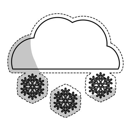snowing weather related icon image vector illustration design