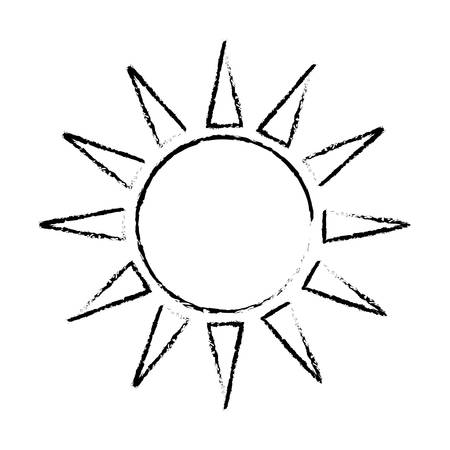 sun weather related icon image vector illustration design
