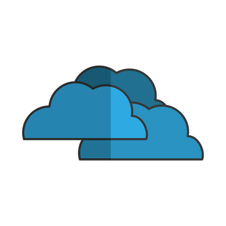 clouds weather related icon image vector illustration design
