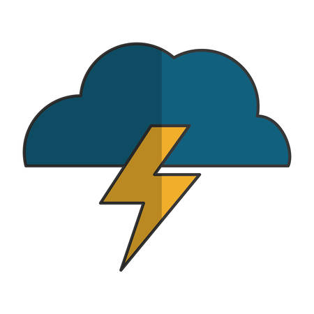electric storm weather related icon image vector illustration design