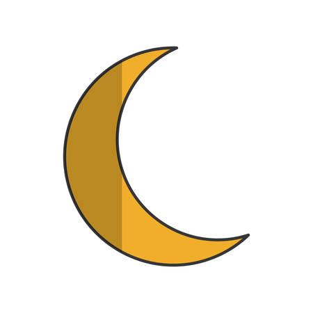 crescent moon icon image vector illustration design