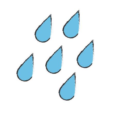 rainy weather related icon image vector illustration design