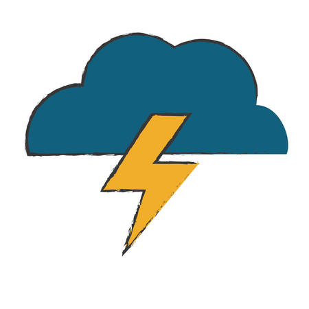 electric storm: electric storm weather related icon image vector illustration design