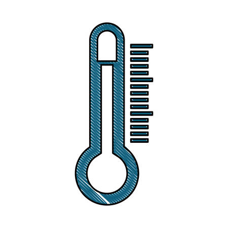 predicting: thermometer weather related icon image vector illustration design Illustration