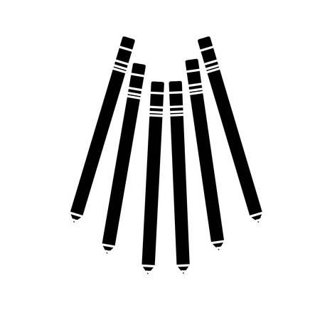 pencil liner makeup related icon image vector illustration design Illustration