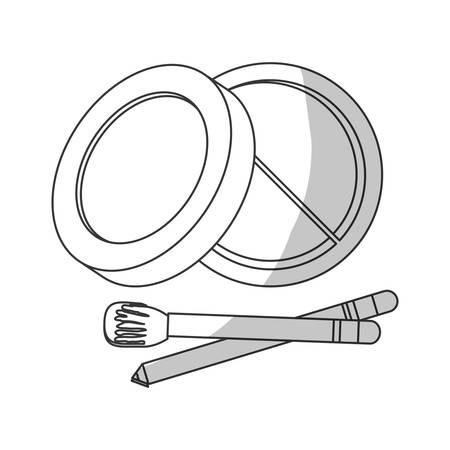 eyeshadow: eyeshadow palette makeup related icon image vector illustration design Illustration