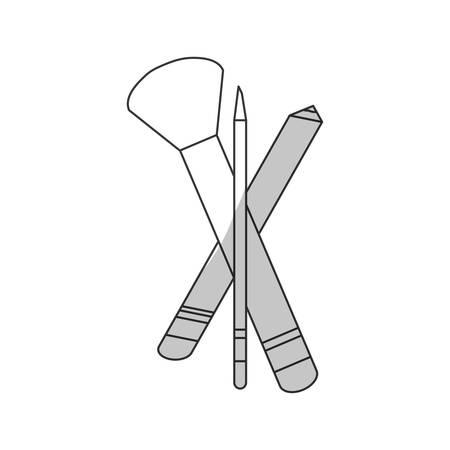 brush makeup related icon image vector illustration design Illustration