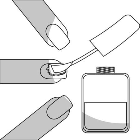 manicurist: nail polish manicure icon image vector illustration design Illustration