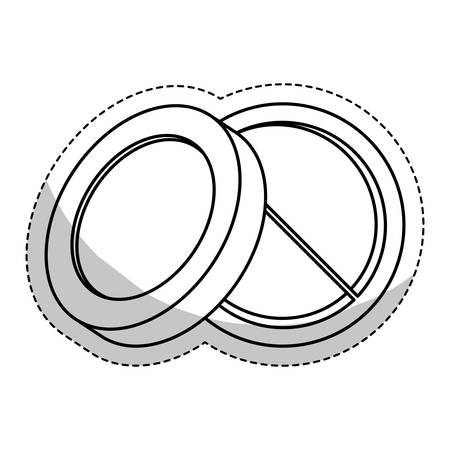 eyeshadow: eyeshadow palette makeup related sticker icon image vector illustration design Illustration