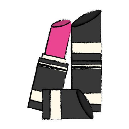 beauty care: lipstick makeup icon image vector illustration design Illustration