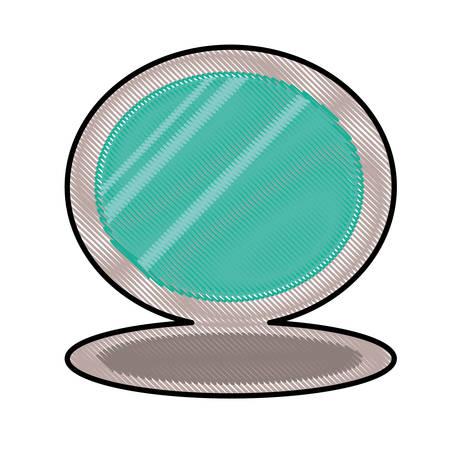 in vain: cosmetic mirror icon image vector illustration design Illustration