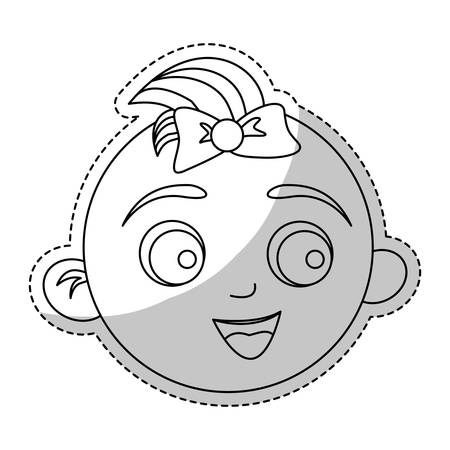 bebé feliz imagen de la cara icono de ilustración vectorial de diseño Ilustración de vector