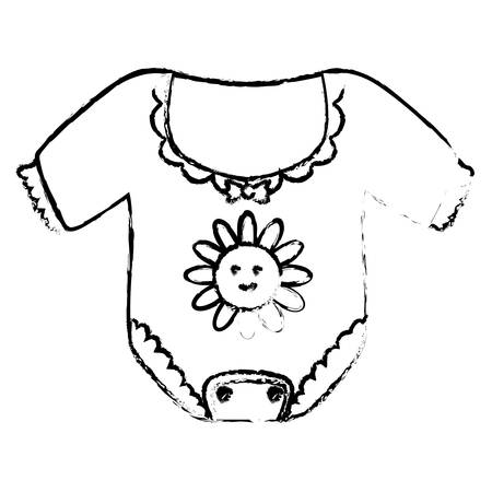 onesie baby shower related icon image vector illustration design
