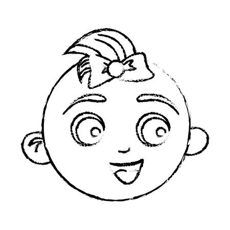 feliz bebé cara icono de la imagen ilustración vectorial diseño