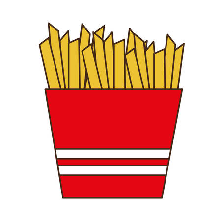 french fries fast food related icon image vector illustration design