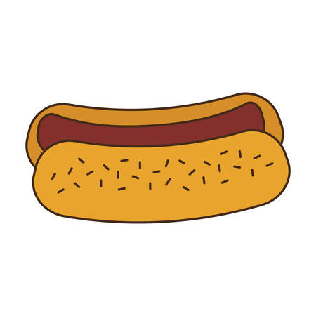 hot dog fast food related icon image vector illustration design