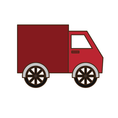 delivery truck icon image vector illustration design
