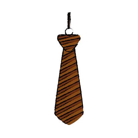 Necktie male fashion icon vector illustration graphic design Illustration