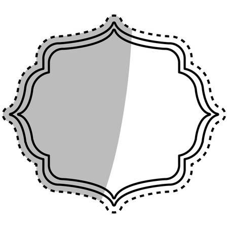 Decorative label emblema icona illustrazione vettoriale progettazione grafica