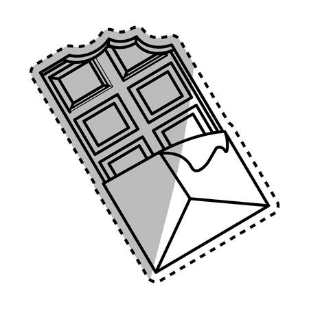 Delicious chocolate bar icon vector illustration graphic design