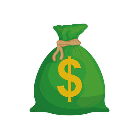Isolated money bag icon vector illustration graphic design Illustration
