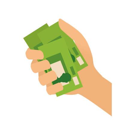Money billet cash icon vector illustration graphic design