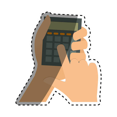 multiplicacion: Calculator math device icon vector illustration graphic design Vectores