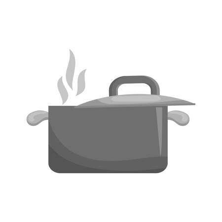 ailment: Kitchen saucepan utensil icon vector illustration graphic design